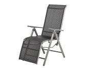 Garten Relaxsessel Solidus Linu - Aluminium- Schwarz/Anthrazit, Garden Guerilla