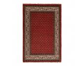 Teppich-Indo Mir Dehli Rot - Reine Wolle - 70 x 140 cm, Parwis