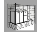 HSK Badewannenaufsatz Prima, 128 cm (ohne Seitenwand)