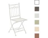 nostalgischer Klappstuhl ASINA Loraville aus Eisen (aus bis zu 6 Farben wählen)