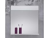 Badezimmerspiegel mit Ablage Weiß Hochglanz