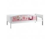 Einzelbett Lifetime Original - Kiefer teilmassiv - Weiß/Motiv Little Princess - Mit Rollrost, Lifetime Kidsrooms