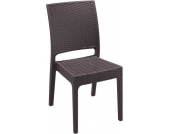 stapelbarer Design Gartenstuhl, Küchenstuhl, Stapelstuhl FLORIDA, hochwertige Rattan-Optik, Farbwahl, Gastronomie geeignet, Sitzhöhe 45 cm