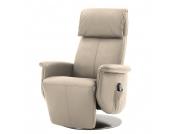 Massagesessel Blake - Echtleder - Einmotorige Verstellung - Beige, Nuovoform