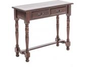 Konsolen-Tisch JEROME aus Mahagoni, passt perfekt zum Kolonialstil, 93 x 38 cm, Höhe 80 cm, mit 2 Schubladen