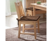 Holzstuhl aus Buche Massivholz Sitzkissen