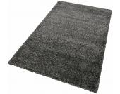 Merinos Hochflor-Teppich »INDRE«, schwarz, 160x225 cm