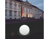 Kugelleuchte Snowball weiß mit Alu-Fuß 50 cm