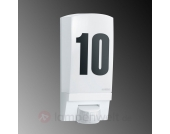 Mit Sensor - Hausnummernleuchte STEINEL, L 1 weiß