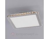 Exquisite LED-Deckenleuchte mit Kristallen