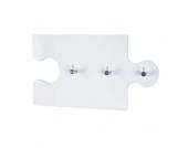 Hängegarderobe in Weiß Puzzle Form