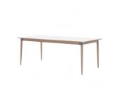 Holztisch in Weiß verlängerbar