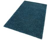 my home Hochflor-Teppich »Finn«, blau, 240x320 cm