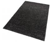 my home Hochflor-Teppich »Finn«, schwarz, 120x180 cm