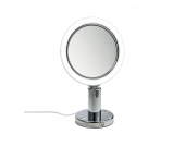 Standspiegel BS 12/V mit LED Beleuchtung - Metall Chrom, Decor Walther