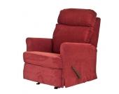 Senioren Fernsehsessel in Rot mit waschbarem Bezug
