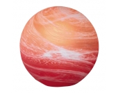 EEK A++, Tischleuchte Kugel - Sparlampe 11 W - Orange/Rot, Honsel