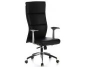 Bürostuhl / Chefsessel MONZA 20 Leder schwarz hjh OFFICE