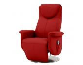 Massagesessel Colby - Echtleder - Einmotorige Verstellung - Rot, Nuovoform