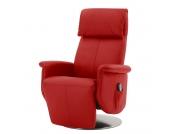 Massagesessel Blake - Echtleder - Einmotorige Verstellung - Rot, Nuovoform