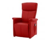 Massagesessel Broderick - Echtleder - Einmotorige Verstellung - Rot, Nuovoform