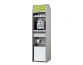 Büroschrank Dancer - Silber - Hellgrün - Mit Kühlschrank, MS Schuon