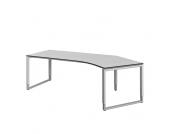 PC Tisch in Weiß Grau höhenverstellbar