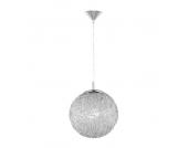 EEK A++, Hängeleuchte/Pendelleuchte Womble - 1-flammig - Aluminiumgeflecht - Silber/Weiß, Paul Neuhaus
