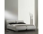 Doppelbett aus Kunstleder