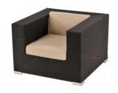 Sessel inkl. Polster New York aus Polyrattan, schwarz
