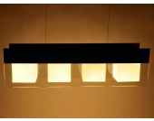 Deckenleuchte Pendelleuchte Paris 2 mit Glaselementen 4-flammig