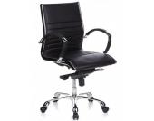 Bürostuhl / Chefsessel PARMA 10 Leder schwarz Chrom hjh OFFICE