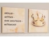 Leinwandbild, Home affaire, »Hinfallen-Aufstehen-Weitermachen«, Maße (B/H): 120/60 cm