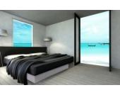 Ocean Mono Wasserbett, 200 x 200 cm, weiß, F6