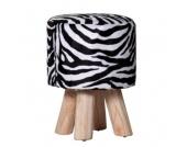 IOVIVO Polsterhocker Zebra mit Holzfüßen