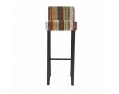 Barhocker Chiara (2er-Set) - Mehrfarbig - Massives Holzgestell, Kare Design