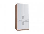 Rauch rauch Kleiderschrank, weiß, ohne Spiegel, Breite 91 cm