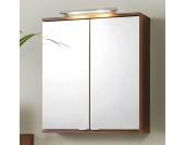 Bad Spiegelschrank mit Halogen-Beleuchtung Nussbaumfarben