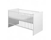Babybett Eco Stripe - Buche Massiv/MDF - Weiß - mit Umbauseiten, Schardt