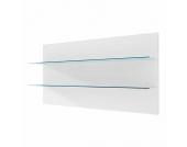 EEK A+, Wandpaneel Corana klein - Hochglanz Weiß - Mit Beleuchtung, loftscape