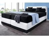 Maintal Boxspring-Bett, schwarz, 180/200 cm, Tonnentaschenfederkern H2, H2
