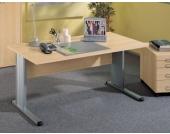 Computertisch in Ahornfarben